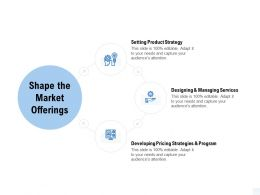 Shape The Market Offerings Services Ppt Powerpoint Presentation Gallery Maker