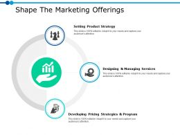 Shape The Marketing Offerings Ppt Powerpoint Presentation Gallery Examples