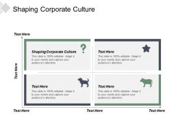 Shaping Corporate Culture Ppt Powerpoint Presentation File Master Slide Cpb