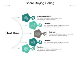 Share Buying Selling Ppt Powerpoint Presentation Pictures Styles Cpb