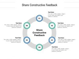 Share Constructive Feedback Ppt Powerpoint Presentation File Background Designs Cpb