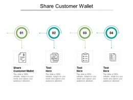 Share Customer Wallet Ppt Powerpoint Presentation Visual Aids Ideas Cpb