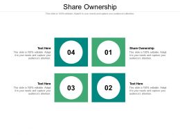 Share Ownership Ppt Powerpoint Presentation Outline Vector Cpb