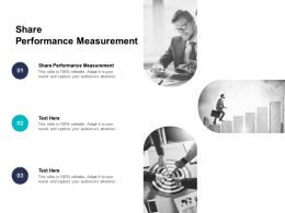 Share Performance Measurement Ppt Powerpoint Presentation Model Graphic Images Cpb