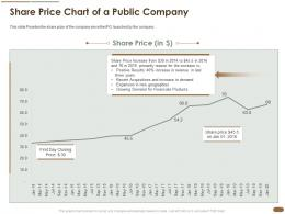 Share Price Chart Of A Public Company Price Revenue Products Ppt Infographic Template Rules