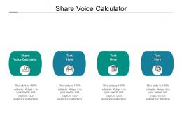 Share Voice Calculator Ppt Powerpoint Presentation Professional Graphics Example Cpb