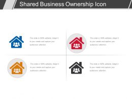Shared Business Ownership Icon Ppt Templates