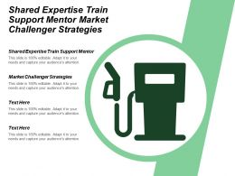 Shared Expertise Train Support Mentor Market Challenger Strategies