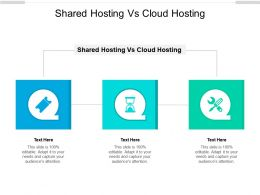 Shared Hosting Vs Cloud Hosting Ppt Powerpoint Presentation Professional Background Designs Cpb