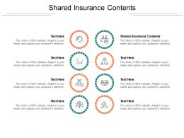 Shared Insurance Contents Ppt Powerpoint Presentation Model Guidelines Cpb