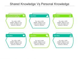 Shared Knowledge Vs Personal Knowledge Ppt Powerpoint Presentation Visual Aids Ideas Cpb