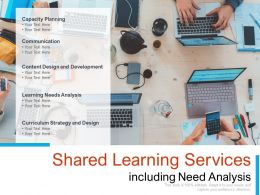 Shared Learning Services Including Need Analysis
