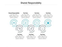 Shared Responsibility Ppt Powerpoint Presentation Outline Background Images Cpb
