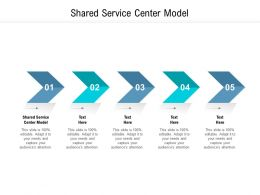 Shared Service Center Model Ppt Powerpoint Presentation Pictures Information Cpb