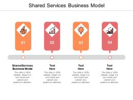 Shared Services Business Model Ppt Powerpoint Presentation Infographic Template Skills Cpb