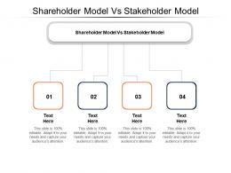 Shareholder Model Vs Stakeholder Model Ppt Powerpoint Presentation Icon Infographics Cpb