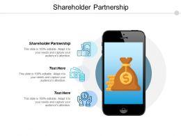 Shareholder Partnership Ppt Powerpoint Presentation Pictures Demonstration Cpb