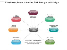 Shareholder Power Structure Ppt Background Designs