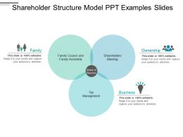 Shareholder Structure Model Ppt Examples Slides