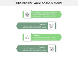 Shareholder Value Analysis Model Ppt Powerpoint Presentation Outline Graphics Pictures Cpb