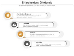 Shareholders Dividends Ppt Powerpoint Presentation Layouts Information Cpb