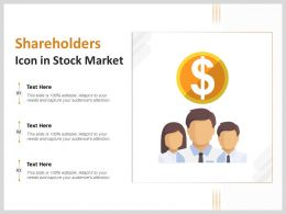 Shareholders Icon In Stock Market