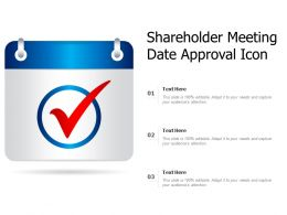 Shareholders Meeting Date Approval Icon