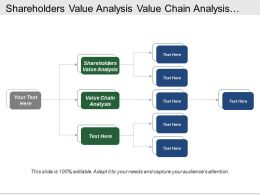 Shareholders Value Analysis Value Chain Analysis Stakeholder Engagement
