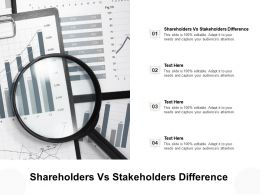 Shareholders Vs Stakeholders Difference Ppt Powerpoint Presentation Outline Example Introduction Cpb