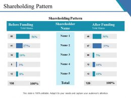 Shareholding Pattern Ppt Examples