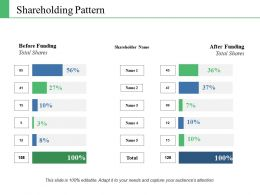 Shareholding Pattern Ppt Infographic Template Slide Download