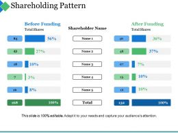Shareholding Pattern Ppt Summary Professional