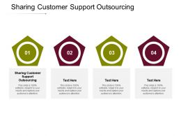 Sharing Customer Support Outsourcing Ppt Powerpoint Presentation Gallery Mockup Cpb
