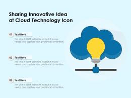 Sharing Innovative Idea At Cloud Technology Icon