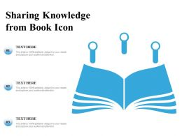 Sharing Knowledge From Book Icon