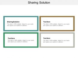 Sharing Solution Ppt Powerpoint Presentation Gallery Background Cpb