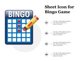 Sheet Icon For Bingo Game
