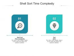 Shell Sort Time Complexity Ppt Powerpoint Presentation Deck Cpb