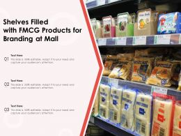 Shelves Filled With FMCG Products For Branding At Mall