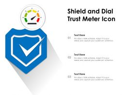 Shield And Dial Trust Meter Icon