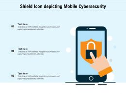 Shield Icon Depicting Mobile Cybersecurity