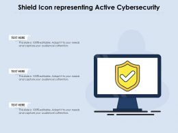 Shield Icon Representing Active Cybersecurity