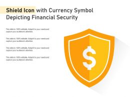 Shield Icon With Currency Symbol Depicting Financial Security