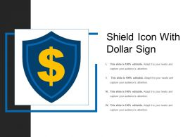 Shield Icon With Dollar Sign