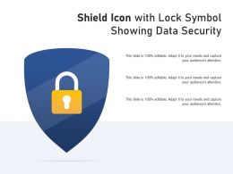 Shield Icon With Lock Symbol Showing Data Security