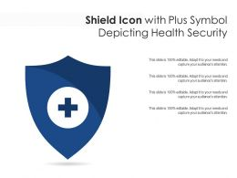Shield Icon With Plus Symbol Depicting Health Security
