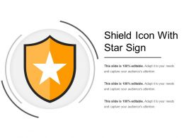 Shield Icon With Star Sign