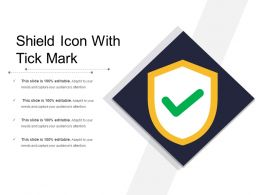 Shield Icon With Tick Mark