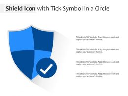 Shield Icon With Tick Symbol In A Circle