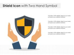 Shield Icon With Two Hand Symbol